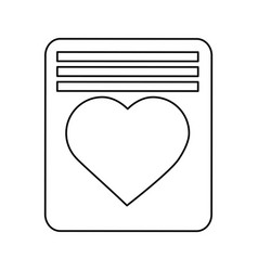 valentines day letter card greeting heart love vector image