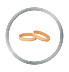 Wedding rings icon in cartoon style isolated on vector image
