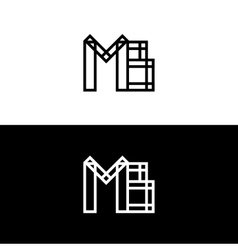 Mb initials logo isolated on white vector image