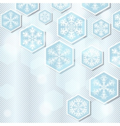 Christmas winter background with snowflake vector image
