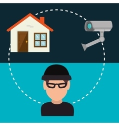 House security system design vector