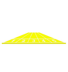 Running track in yellow design vector