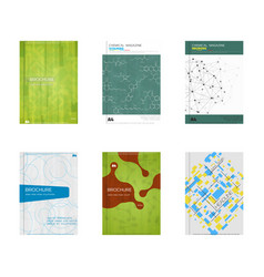 Set of book cover designs vector