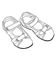 Outline climbing sandals vector