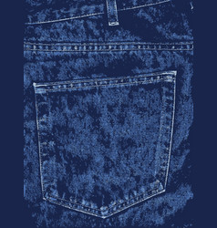 Blue denim pocket vector
