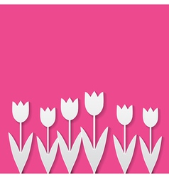 paper tulips vector image