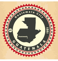 Vintage label-sticker cards of guatemala vector