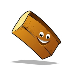 Bouncing happy loaf of fresh bread vector