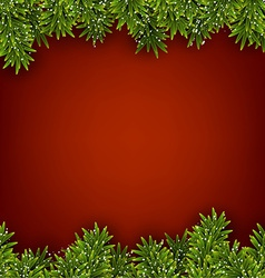 Fir red christmas frame vector