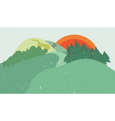 Colorful nature flat design landscape vector