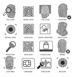 Information security icons vector