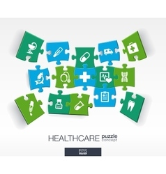 Abstract medicine background with connected color vector