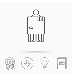 Beach changing cabin icon human symbol vector