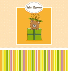 Bear in a gift package vector