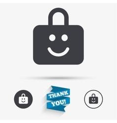 Child lock icon locker with smile symbol vector