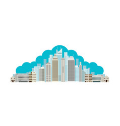 buildings and skyscrapers cloud background vector image
