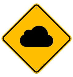 Cloud Road Sign vector image vector image