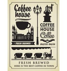 Coffee retro element vector
