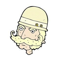 comic cartoon victorian big game hunter vector image vector image