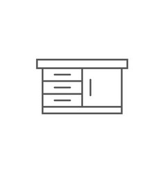 cooking table isolated icon in linear style vector image