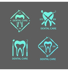Dental logos set vector image vector image