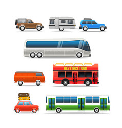 different road vehicles clip-art vector image