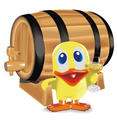 duck about a barrel vector image vector image
