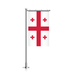 Flag of georgia hanging on a pole vector