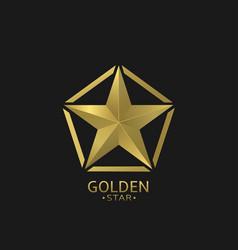 golden star emblem vector image