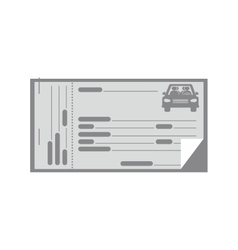 Gray coupon for car icon vector