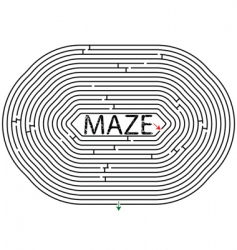 rounded maze vector image