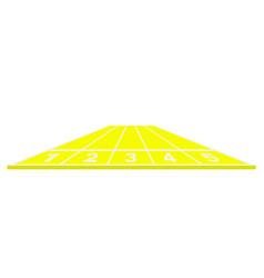 running track in yellow design vector image