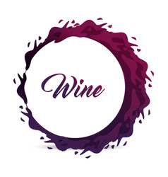 Wine bubbles icon image vector