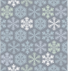 Christmas seamless pattern with snowflakes in vector
