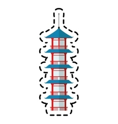 Isolated tower of china design vector