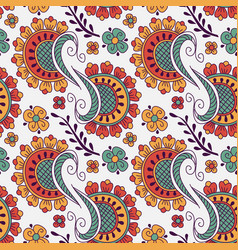 Seamless pattern with hand drawn elements henna vector