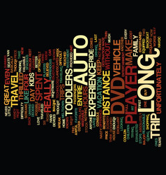Auto dvd player text background word cloud concept vector