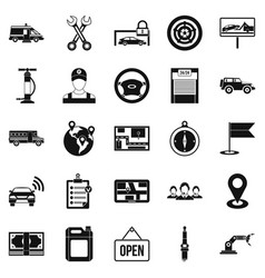 Employment icons set simple style vector