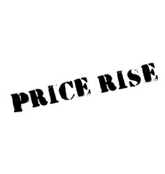 Price rise rubber stamp vector