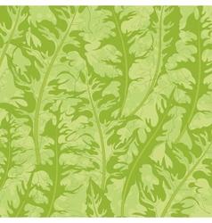 Pattern green dandelion leaves vector