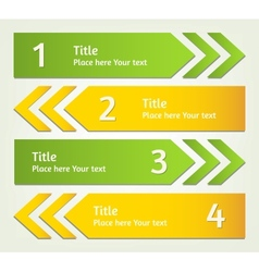 Set of infographic arrows vector