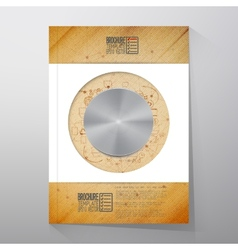 Metal button brochure flyer or report for vector