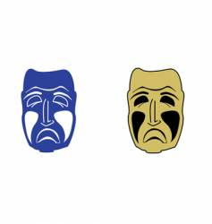 sad mask vector image