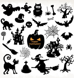Halloween icon set hand draw vector