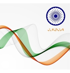 Abstract flag of india vector