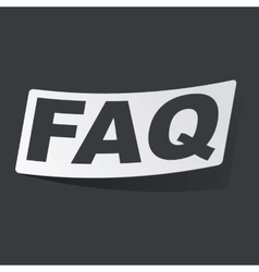 Monochrome faq sticker vector