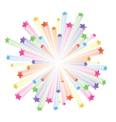 stars explode vector image