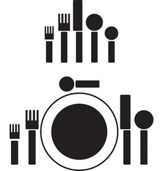 silverware pictogram vector image