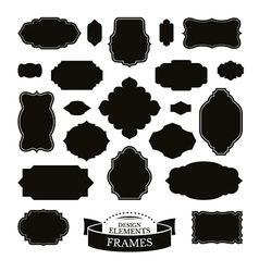 Set of different simple frames vector image