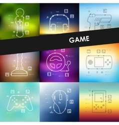 Gaming timeline infographics with blurred vector